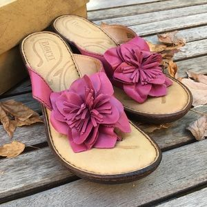 New Never Worn Pink BORN Sandals